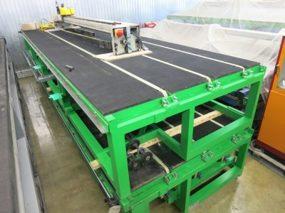 Shape cutting table, 6100 x 3300 mm